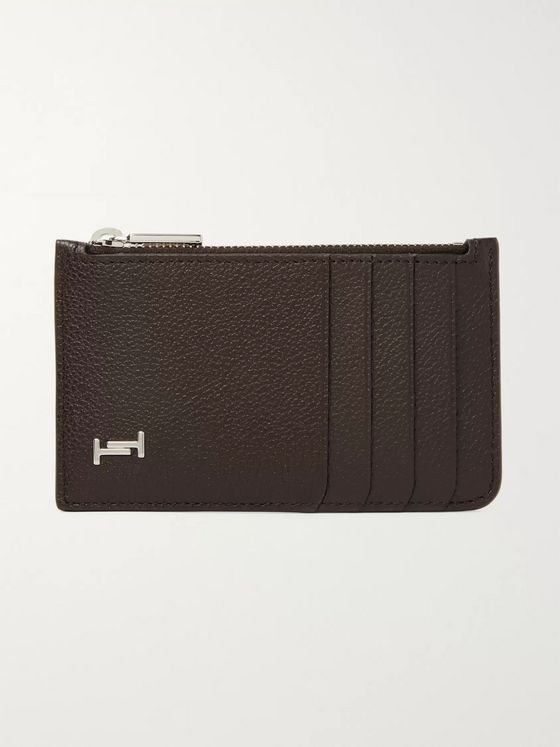 Tod's Logo-Appliquéd Full-Grain Leather Cardholder