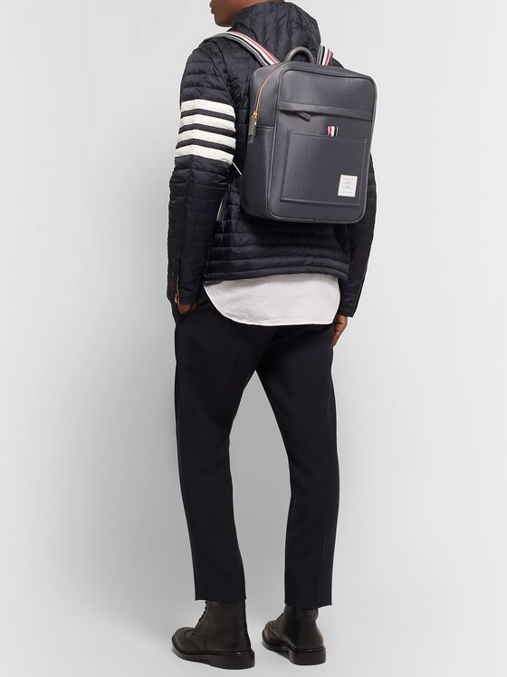 Thom Browne Grosgrain-Trimmed Canvas Backpack
