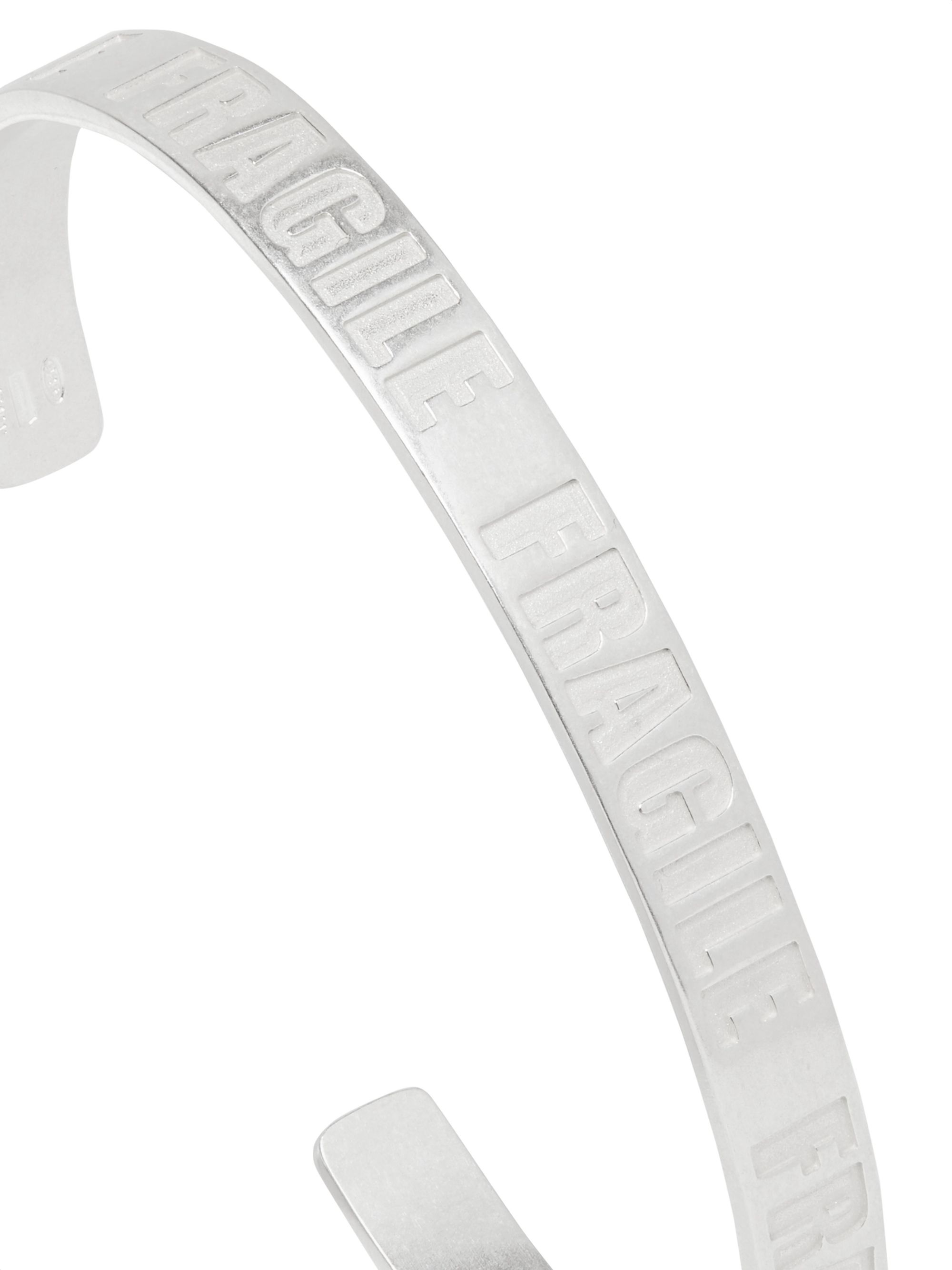 Maison Margiela Stamped Sterling Silver Cuff