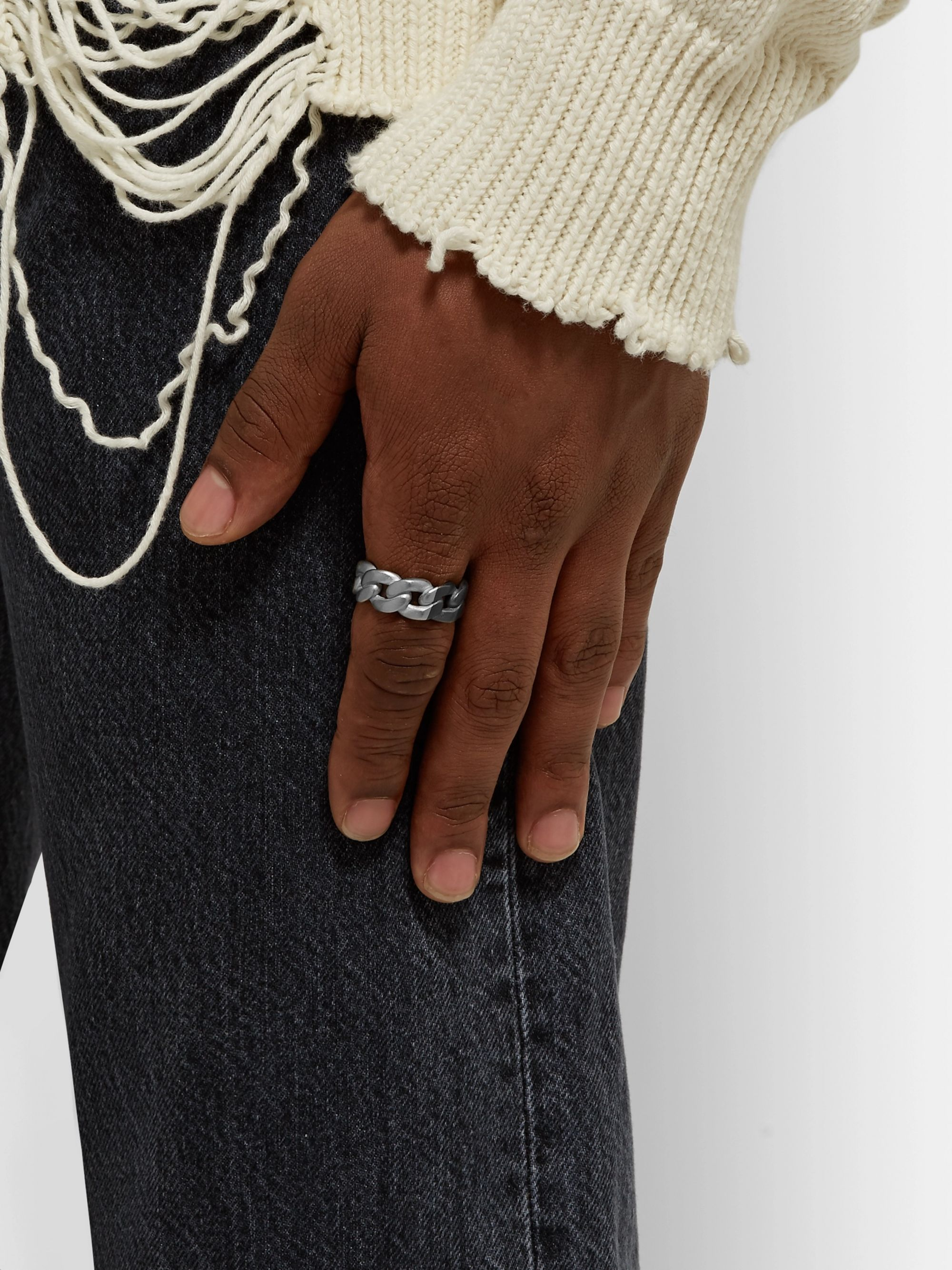 Maison Margiela Two-Tone Sterling Silver Chain Ring