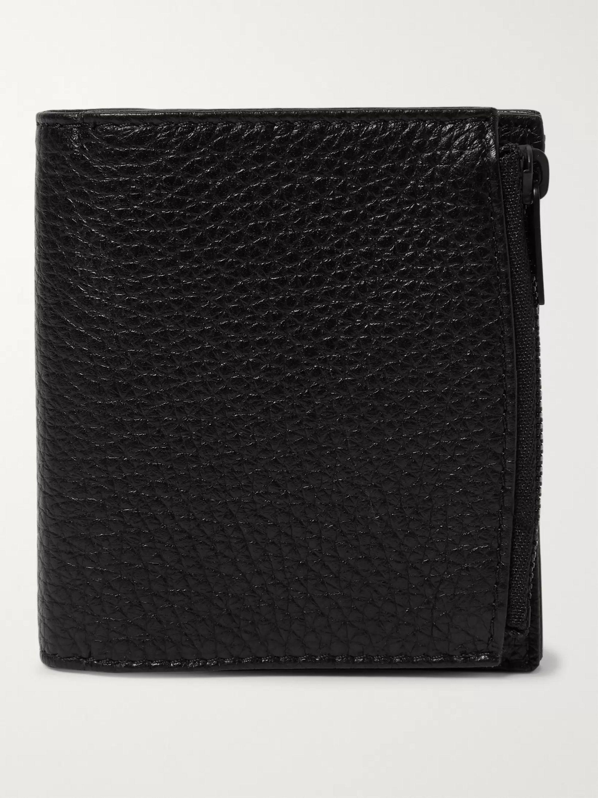 Full Grain Leather Billfold Wallet by Maison Margiela
