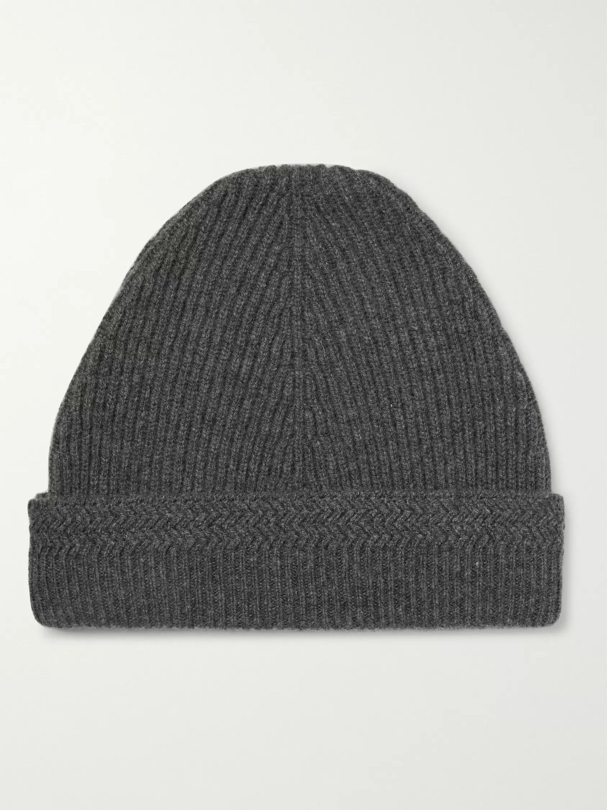 Maison Margiela Ribbed Cashmere and Wool-Blend Beanie