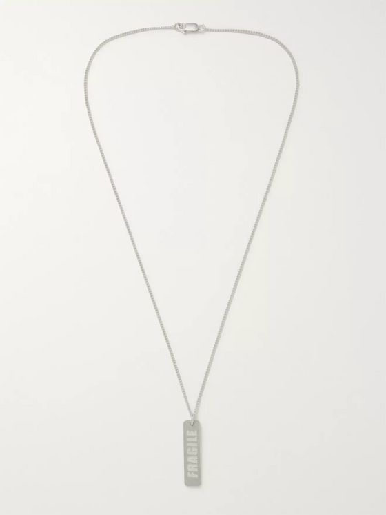 Maison Margiela Stamped Sterling Silver Necklace