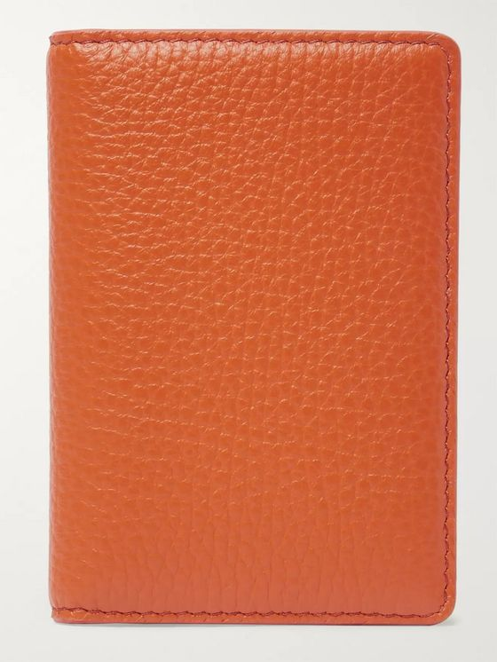 Maison Margiela Full-Grain Leather Bifold Cardholder