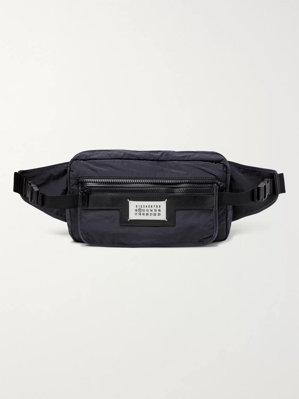 Maison Margiela Leather-Trimmed Shell Belt Bag