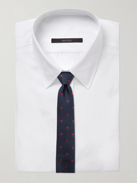 Gucci 7.5cm Logo-Embroidered Silk-Jacquard Tie