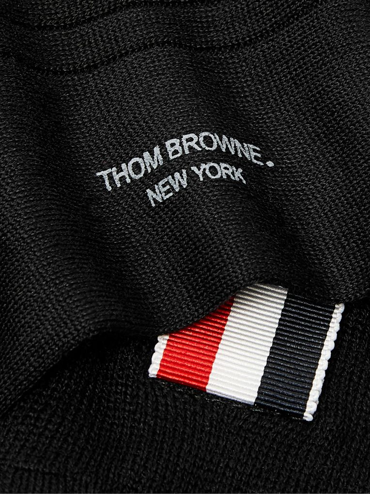 Thom Browne Striped Ribbed Cotton Socks