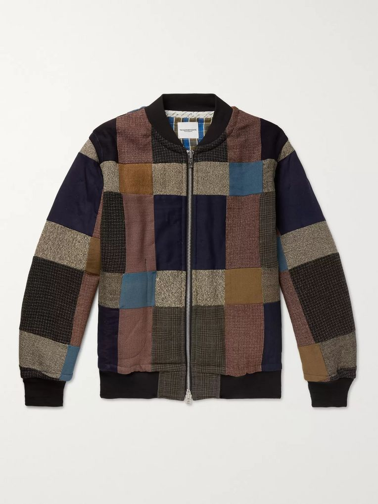 TAKAHIROMIYASHITA TheSoloist. Oversized Patchwork Cotton-Blend Bomber Jacket