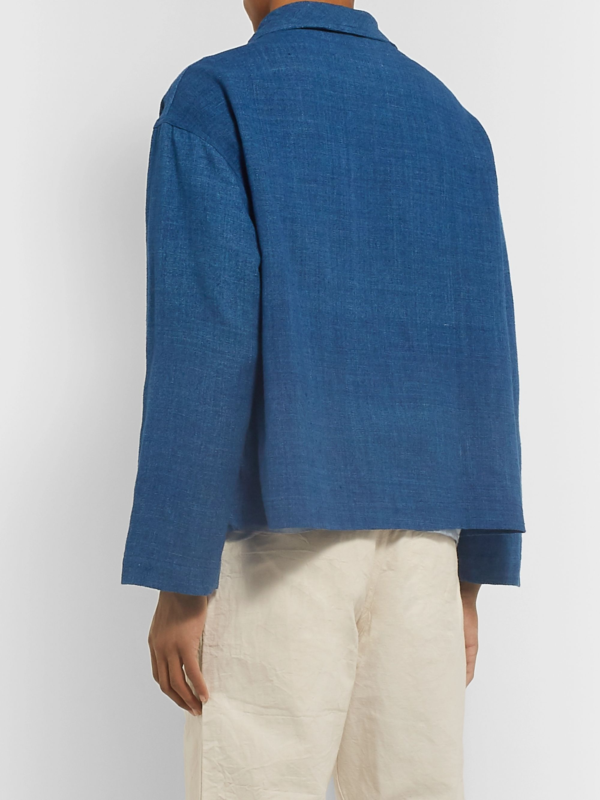Story Mfg. Shawl-Collar Indigo-Dyed Organic Cotton Jacket