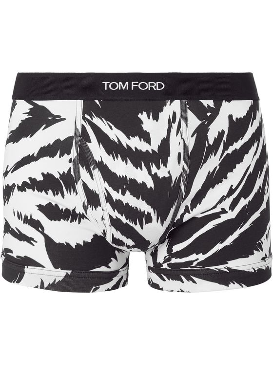 TOM FORD Zebra-Print Stretch-Cotton Jersey Boxer Briefs