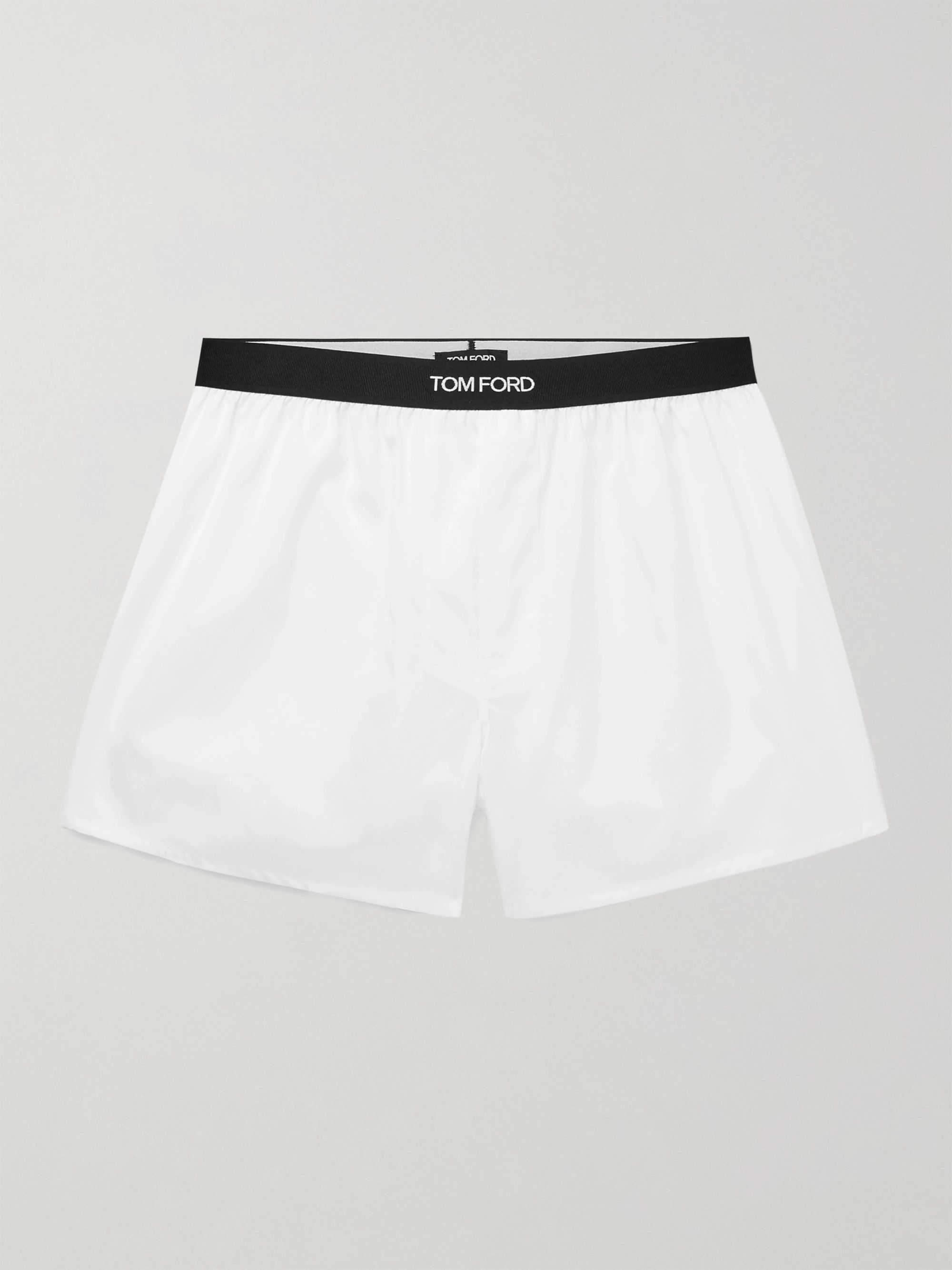 TOM FORD Grosgrain-Trimmed Cotton Boxer Shorts