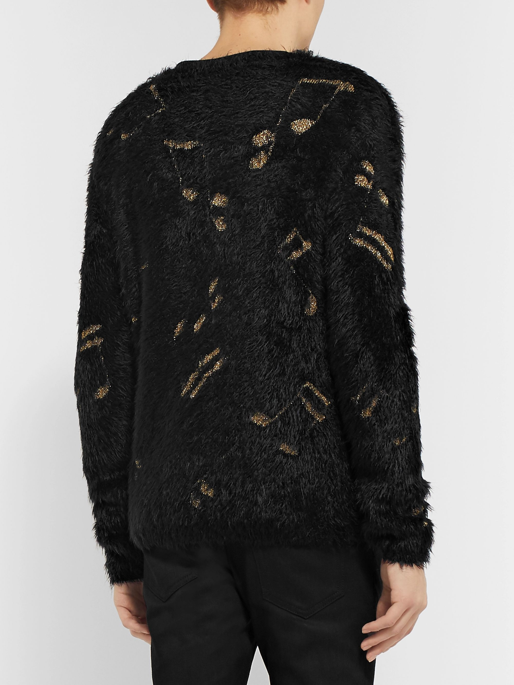 SAINT LAURENT Jacquard-Knit Sweater