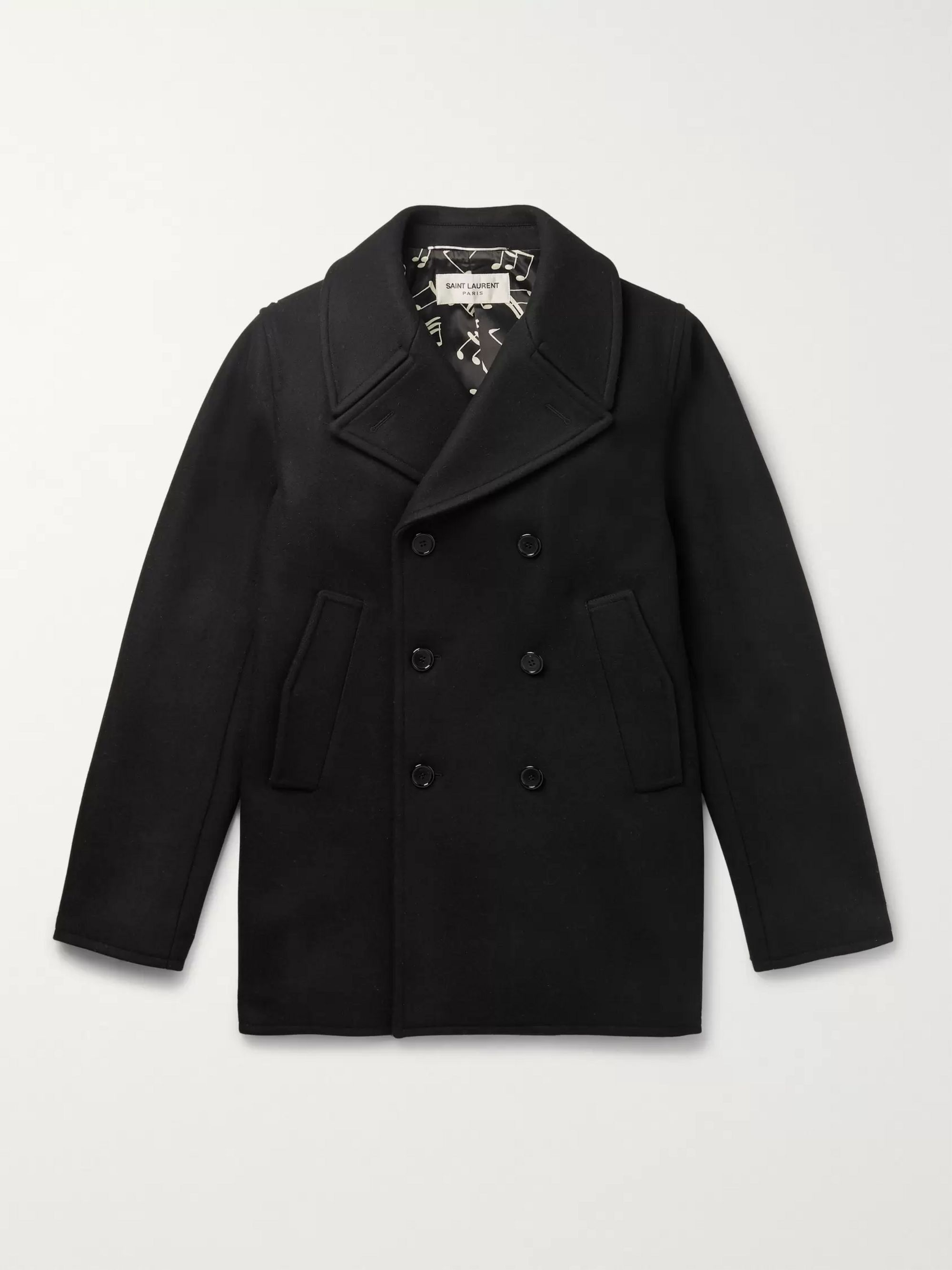 SAINT LAURENT Virgin Wool Peacoat