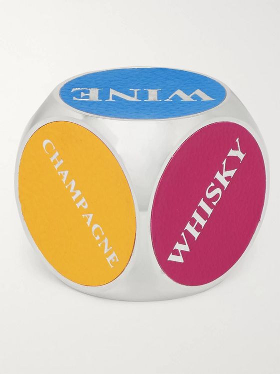 William & Son Aluminium and Leather Drinks Dice