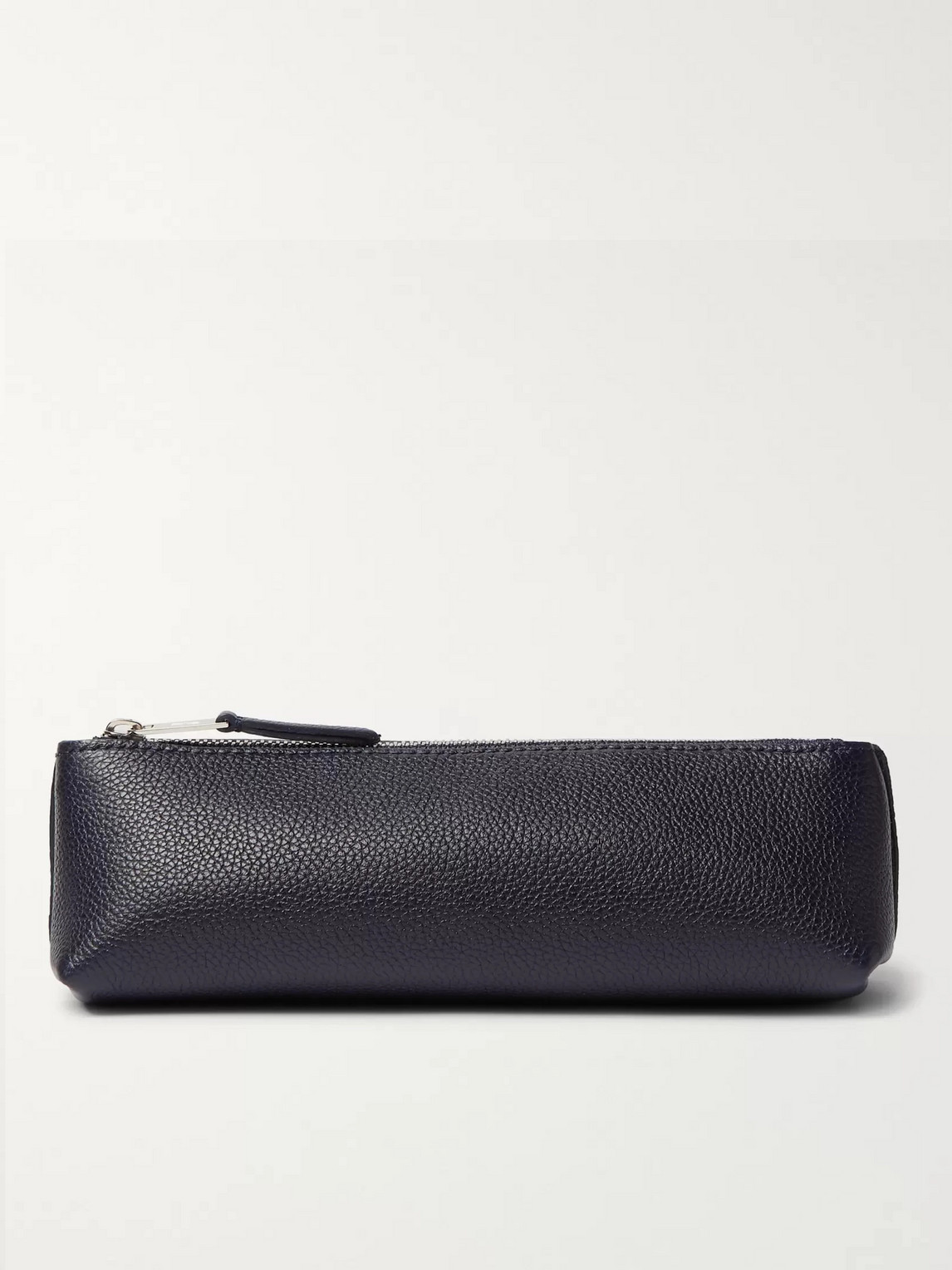 William & Son Bruton Full-grain Leather Pencil Case In Blue