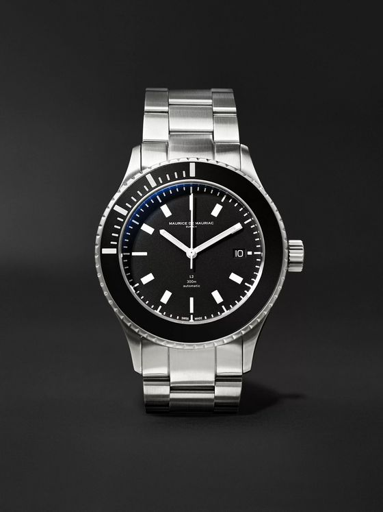 Maurice de Mauriac L2 42mm Stainless Steel Watch, Ref. No. L2 STEEL WITH STAINLESS STEEL BRACELET