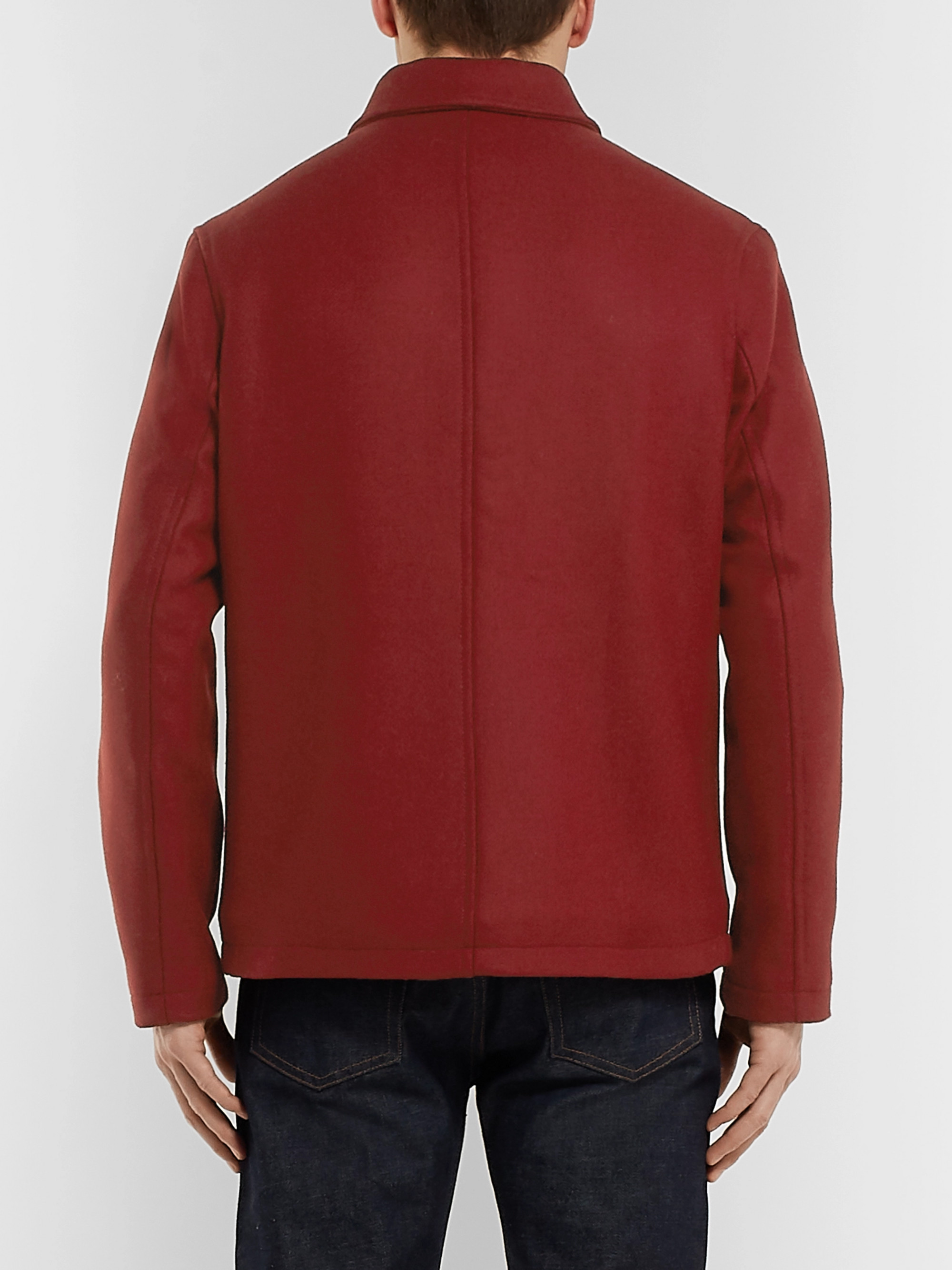 Albam Fleece-Lined Wool, Nylon and Cashmere-Blend Jacket