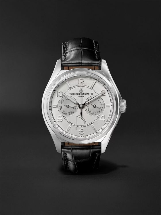 Vacheron Constantin Fiftysix Day-Date Automatic 40mm Stainless Steel and Alligator Watch, Ref. No. 4400E/000A-B437