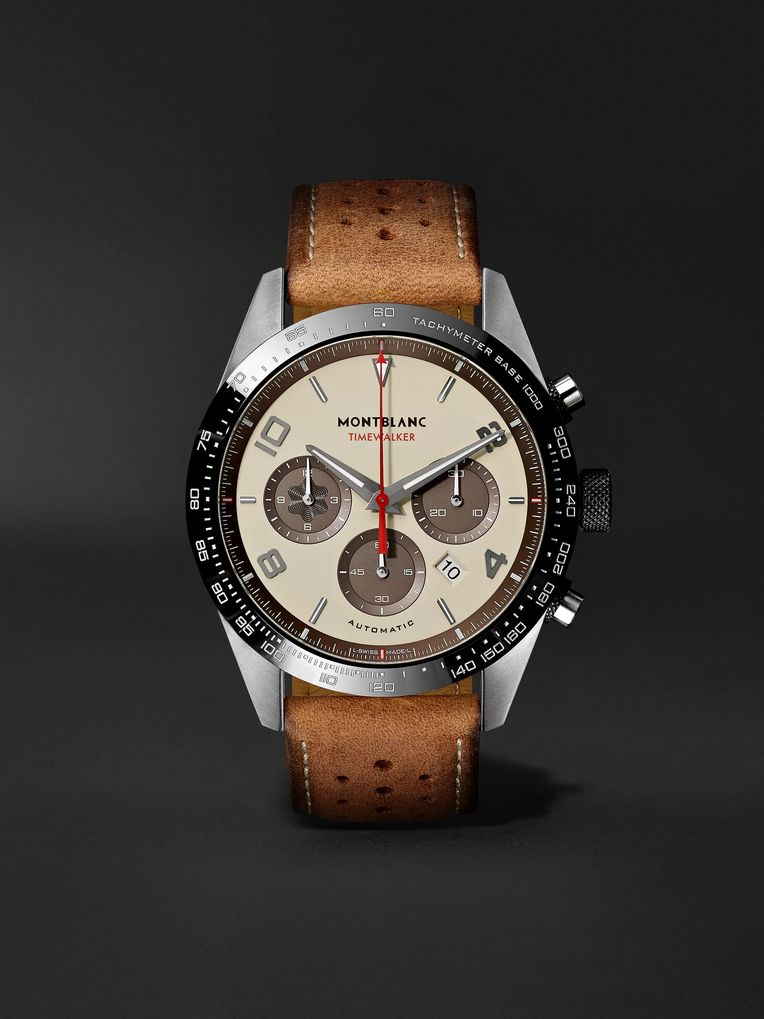 Montblanc TimeWalker Limited Edition Chronograph 43mm Stainless Steel, Ceramic and Leather Watch, Ref. No. 118491