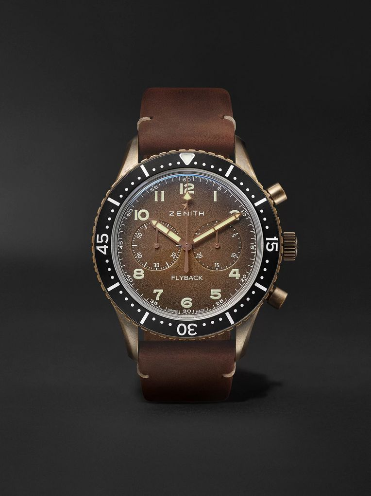 Zenith Pilot Cronometro TIPO CP-2 Automatic 43mm Bronze and Nubuck Watch, Ref. No. 29.2240.405/18.C801