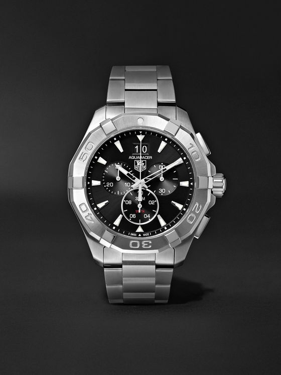 TAG Heuer Aquaracer Chronograph Quartz 43mm Steel Watch, Ref. No. CAY1110.BA0927