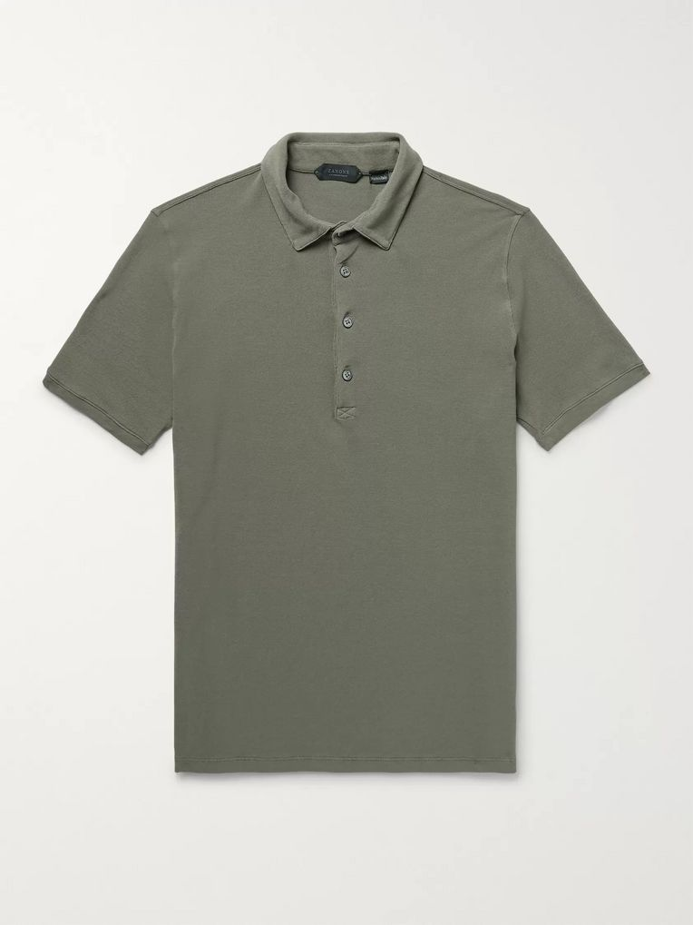 Incotex Slim-Fit Cotton-Piqué Polo Shirt