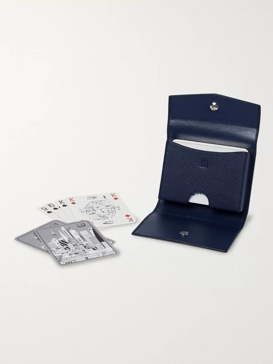 Dunhill Illustrated Playing Cards Deck and Full-Grain Leather Case