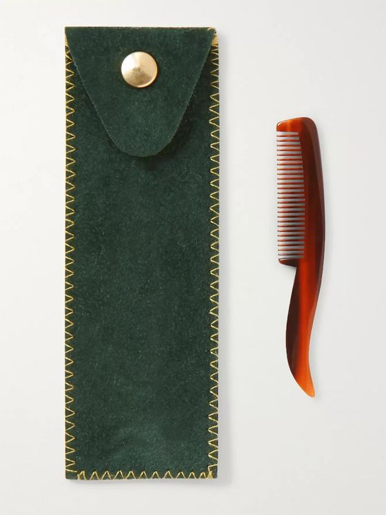 Buly 1803 Horn-Effect Acetate Beard Comb