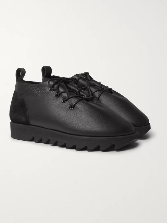 Hender Scheme Shearling-Lined Leather Shoes