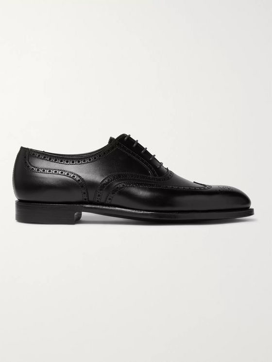 George Cleverley Reuben Leather Wingtip Brogues