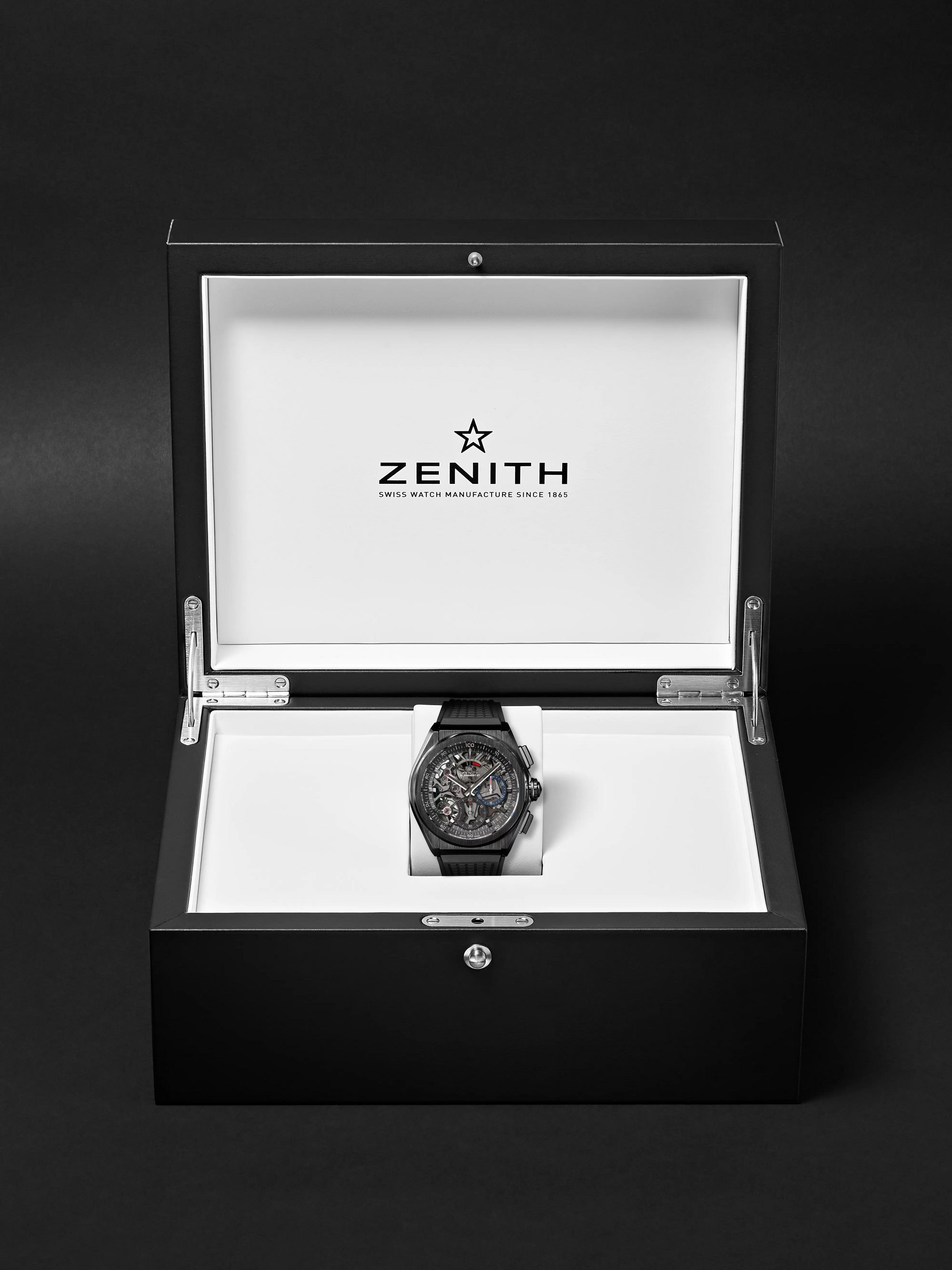 Zenith Defy El Primero 21 Chronograph 44mm Ceramic and Rubber Watch