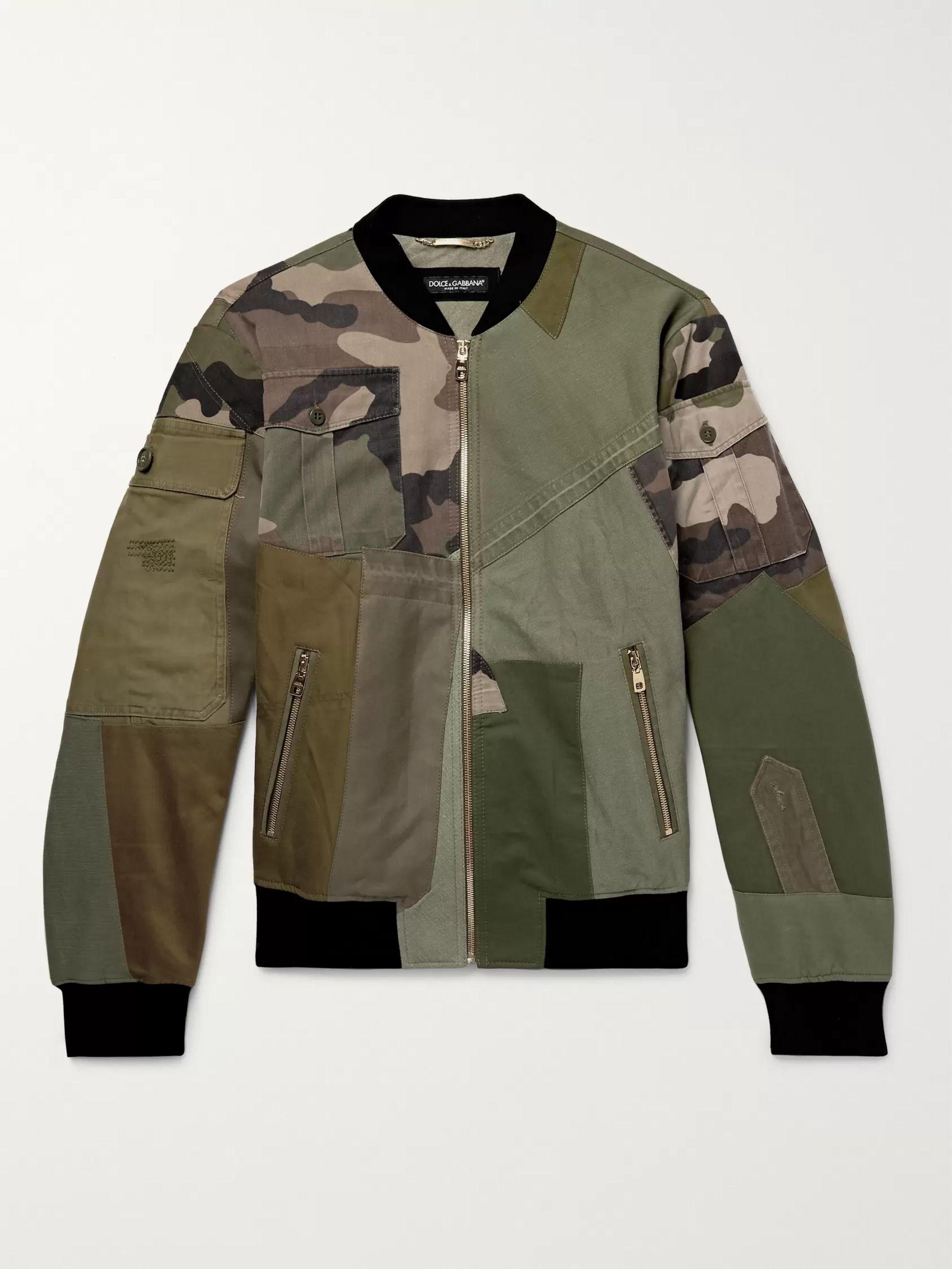 9047390a1a Logo-Appliquéd Patchwork Cotton-Canvas Bomber Jacket