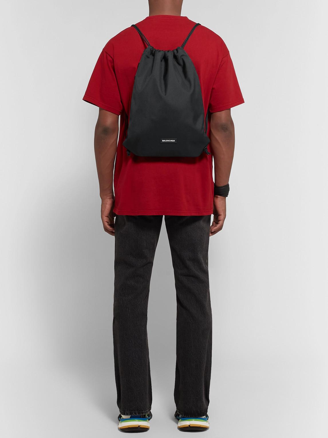 Balenciaga Backpacks EXPLORER CANVAS DRAWSTRING BACKPACK