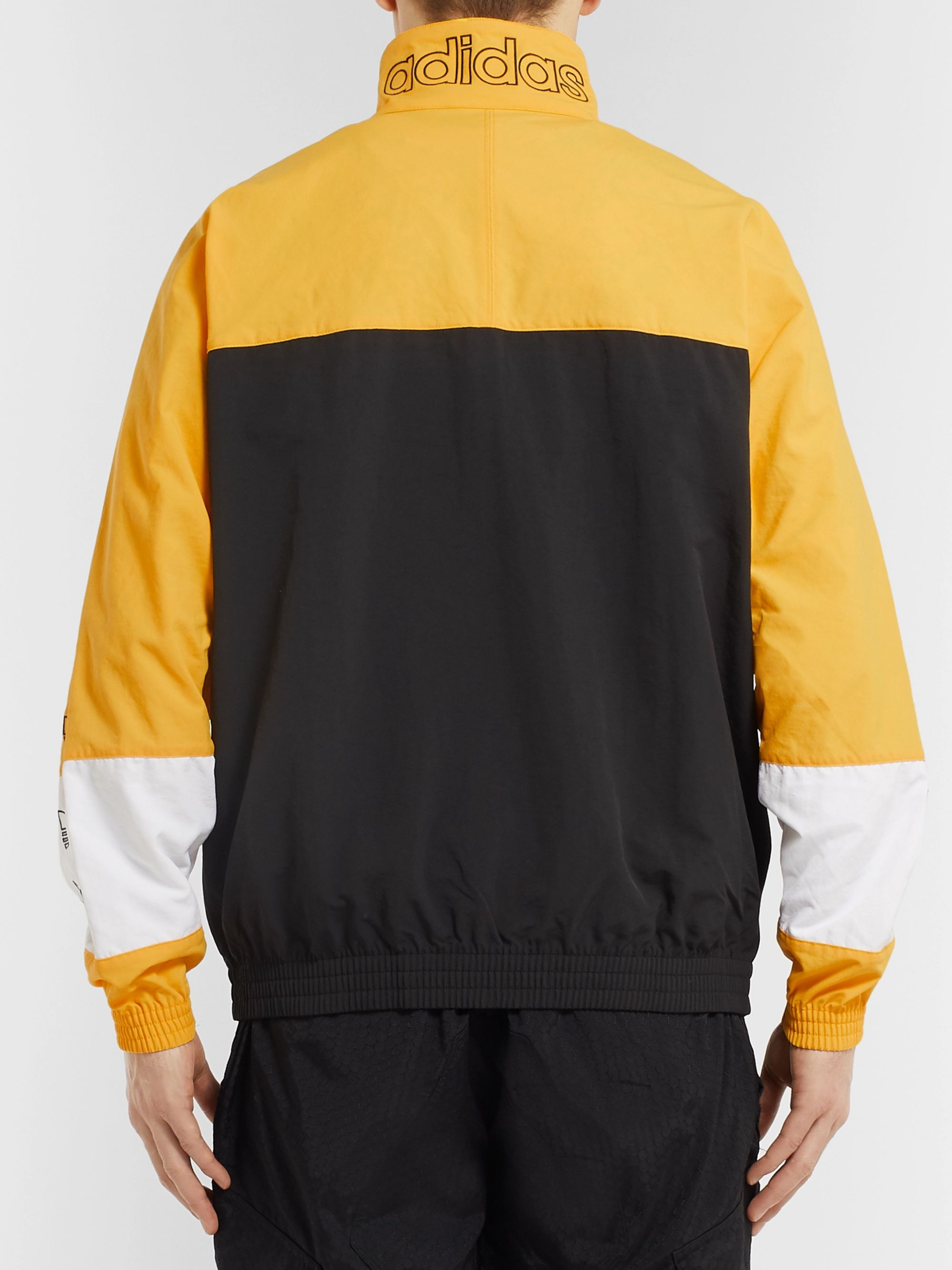 adidas Originals Colour Block Checked Shell Jacket