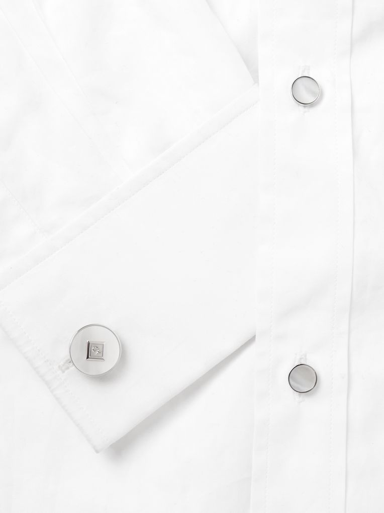 Dunhill Sterling Silver and Mother-of-Pearl Shirt Studs and Cufflinks Set