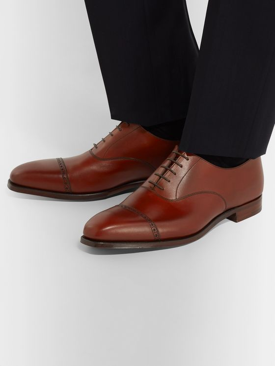 George Cleverley Charles Cap-Toe Leather Oxford Shoes