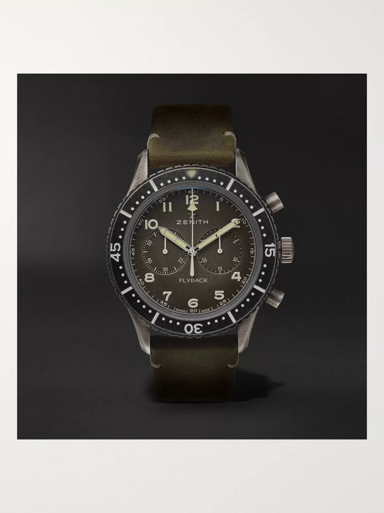 Zenith Pilot Cronometro TIPO CP-2 Automatic 43mm Stainless Steel and Nubuck Watch, Ref. No. 11.2240.405/21.C773