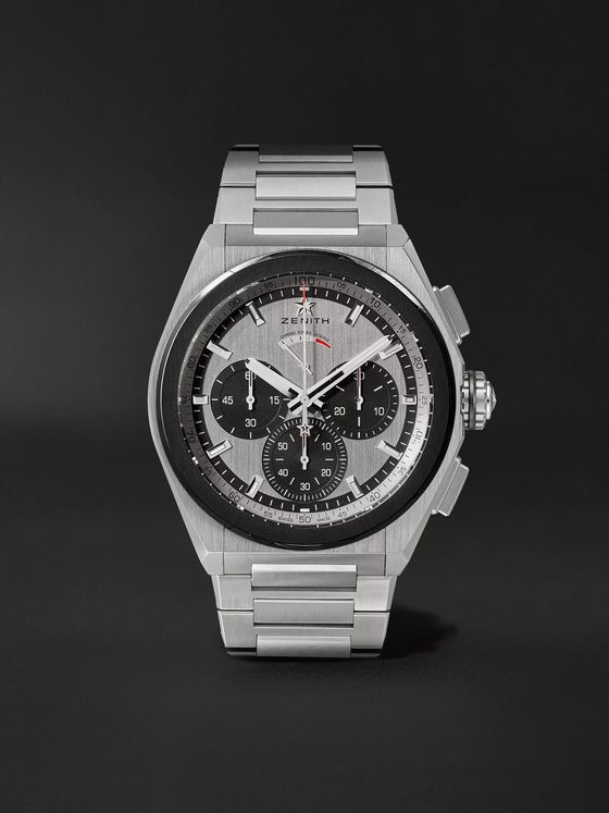 Zenith Defy El Primero 21 Automatic Chronograph 44mm Brushed-Titanium Watch, Ref. No. 95.9005.9004/01.M9000