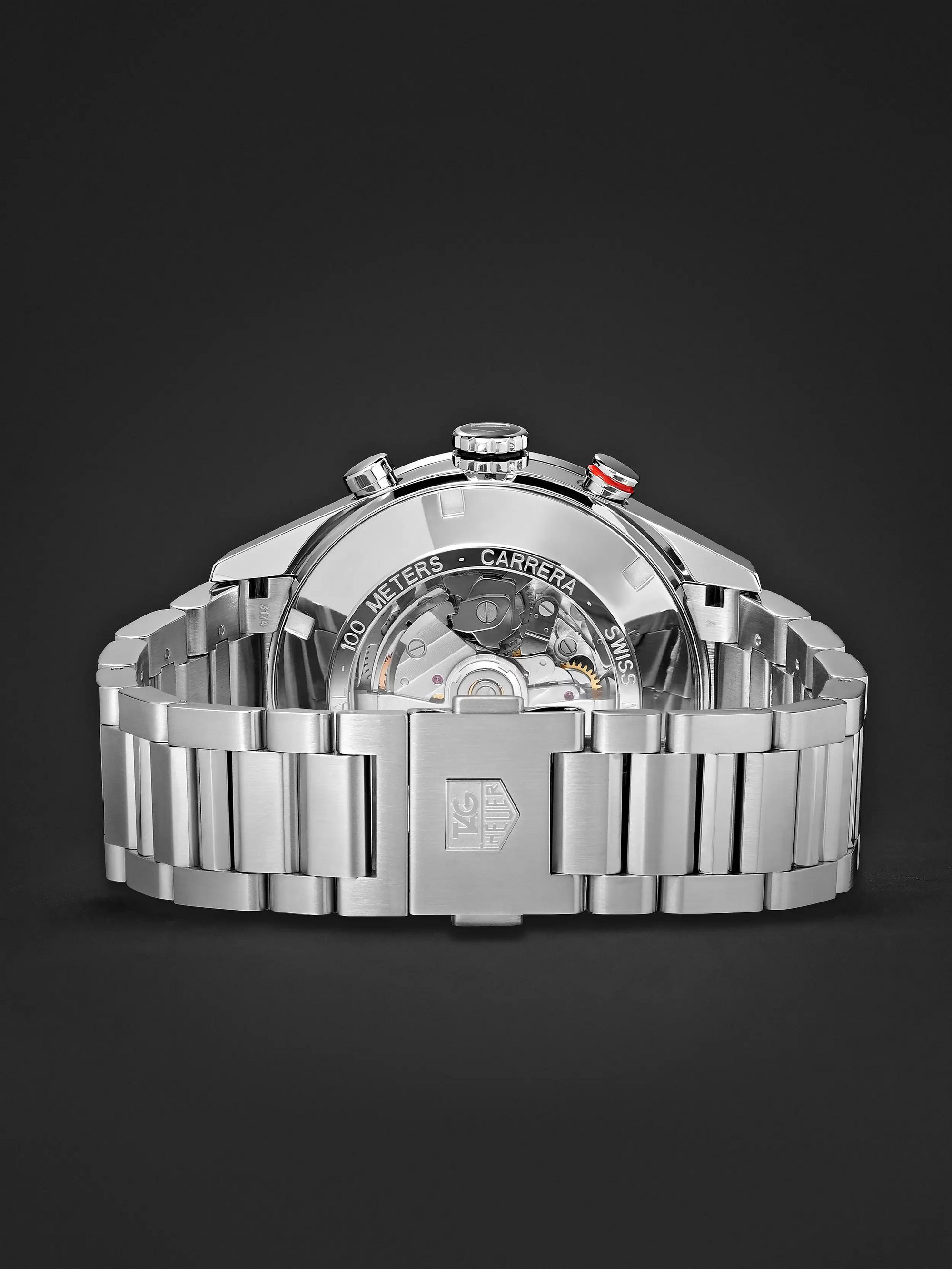TAG Heuer Carrera Automatic Chronograph 43mm Polished-Steel Watch, Ref. No. CV2A1V.BA0738