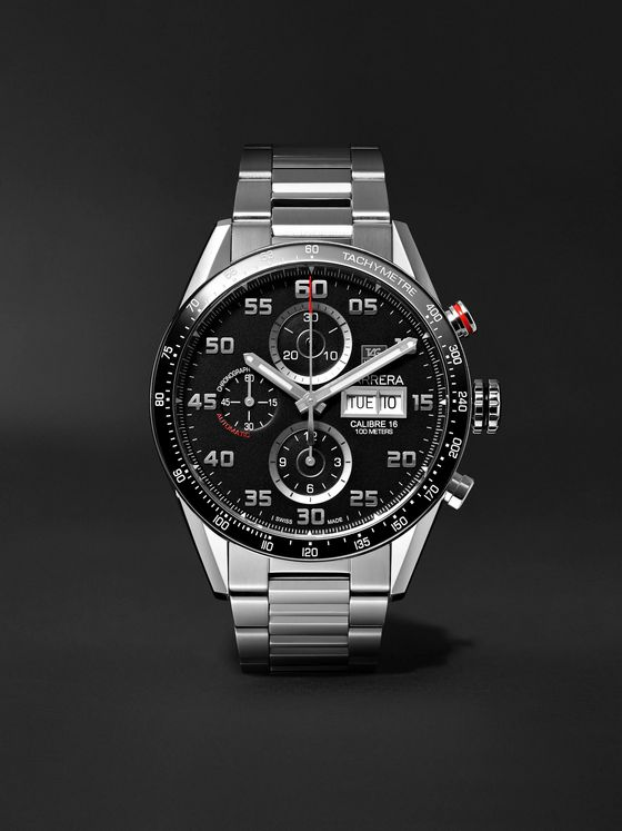 TAG Heuer Carrera Automatic Chronograph 43mm Polished-Steel Watch, Ref. No. CV2A1R.BA0799