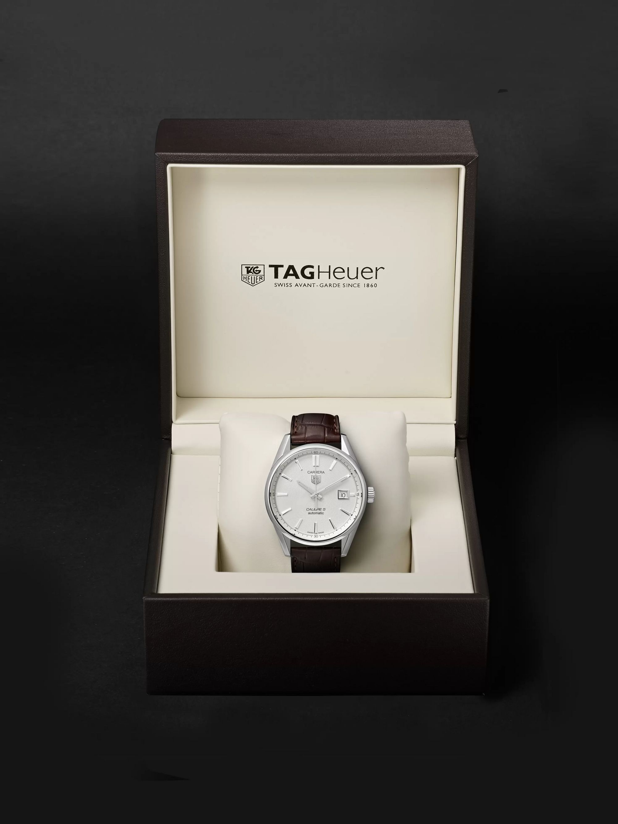 TAG Heuer Carrera Automatic 39mm Steel and Alligator Watch, Ref. No. WAR211B.FC6181