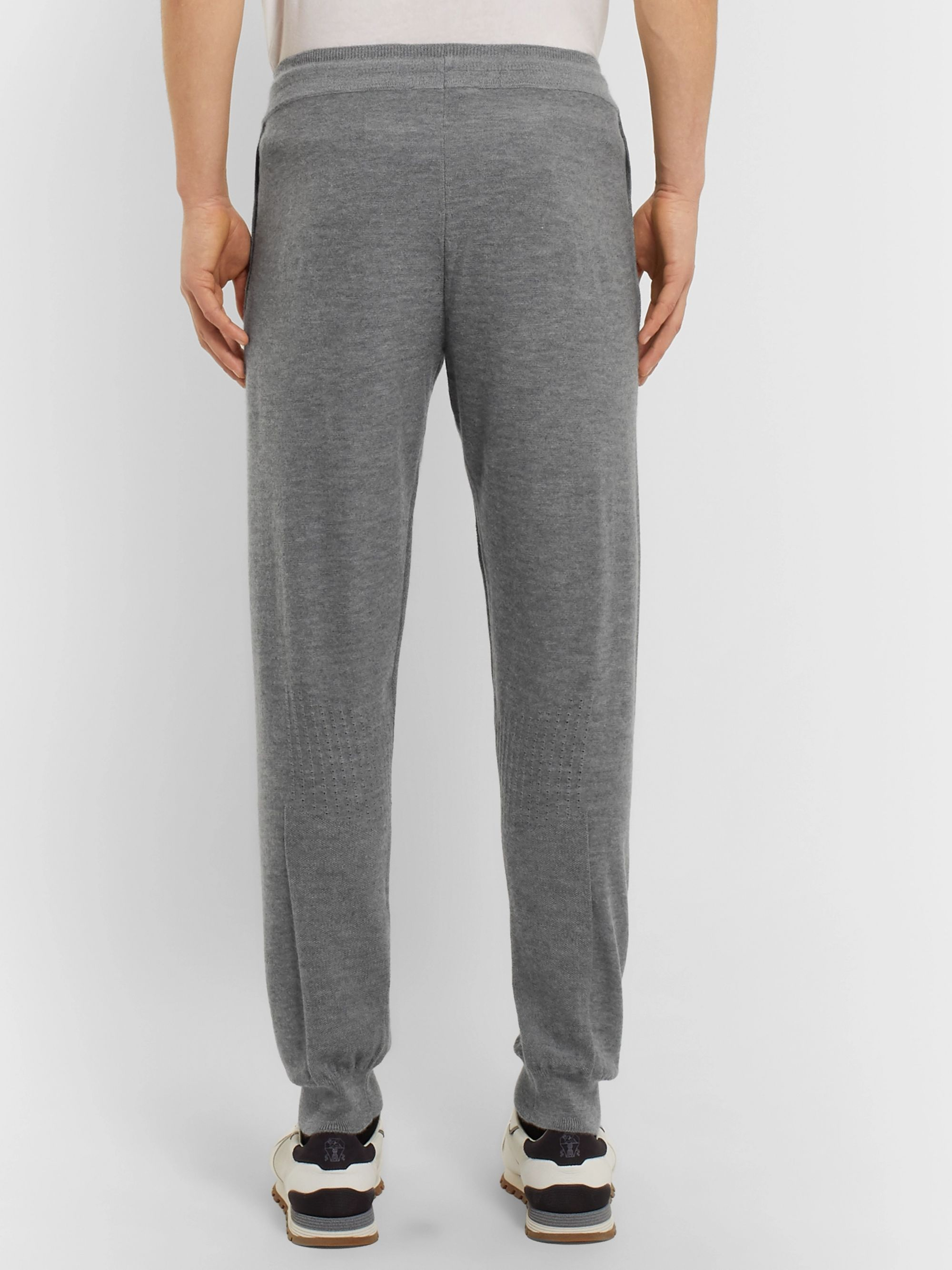 Ermenegildo Zegna Slim-Fit Tapered Cashmere Sweatpants