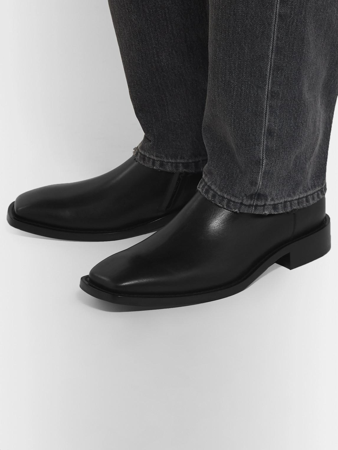 Balenciaga Boots POLISHED-LEATHER BOOTS