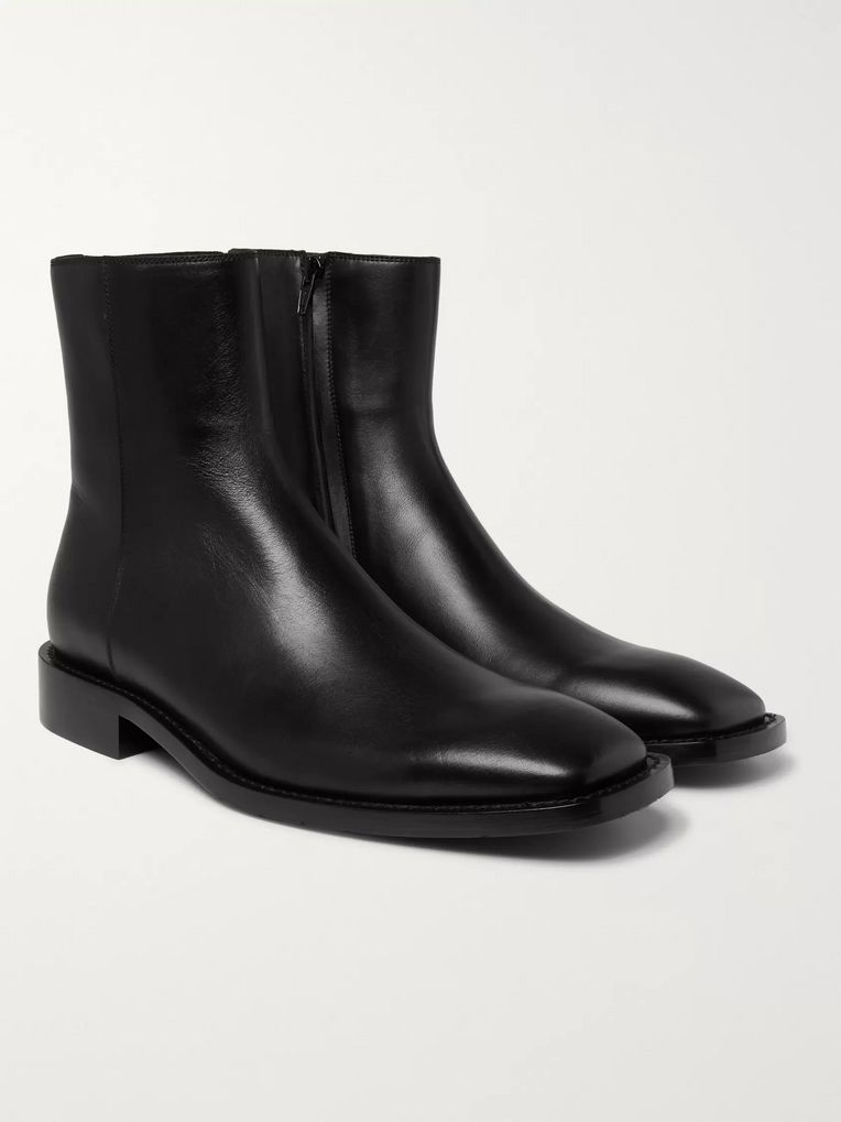 Balenciaga Polished-Leather Boots