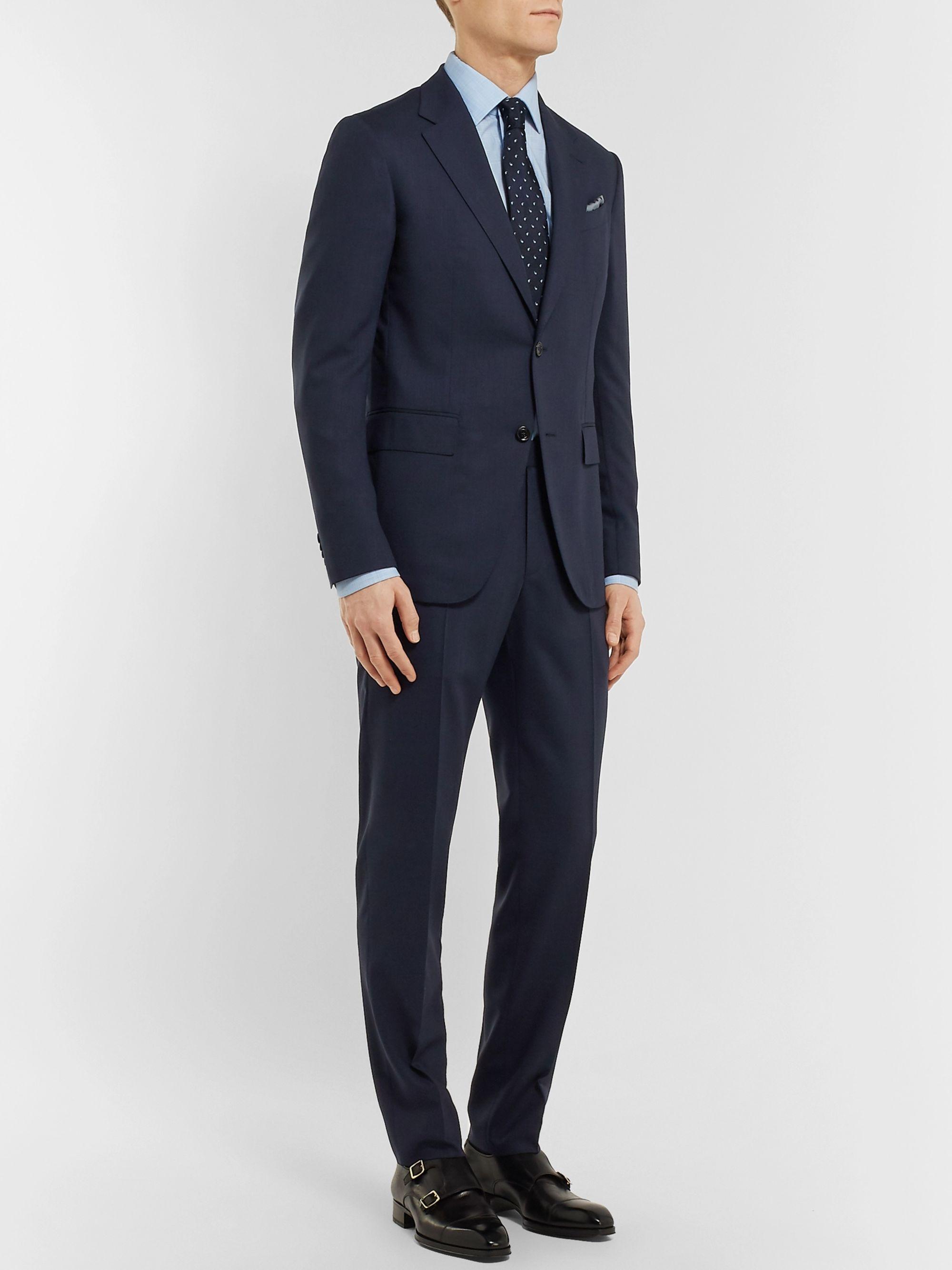 387a0bd4 Navy Packaway Slim-Fit Wool Suit