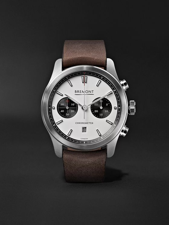 Bremont ALT1-C White-Black Automatic Chronograph 43mm Stainless Steel and Leather Watch, Ref. No. ALT1-C/WH-BK