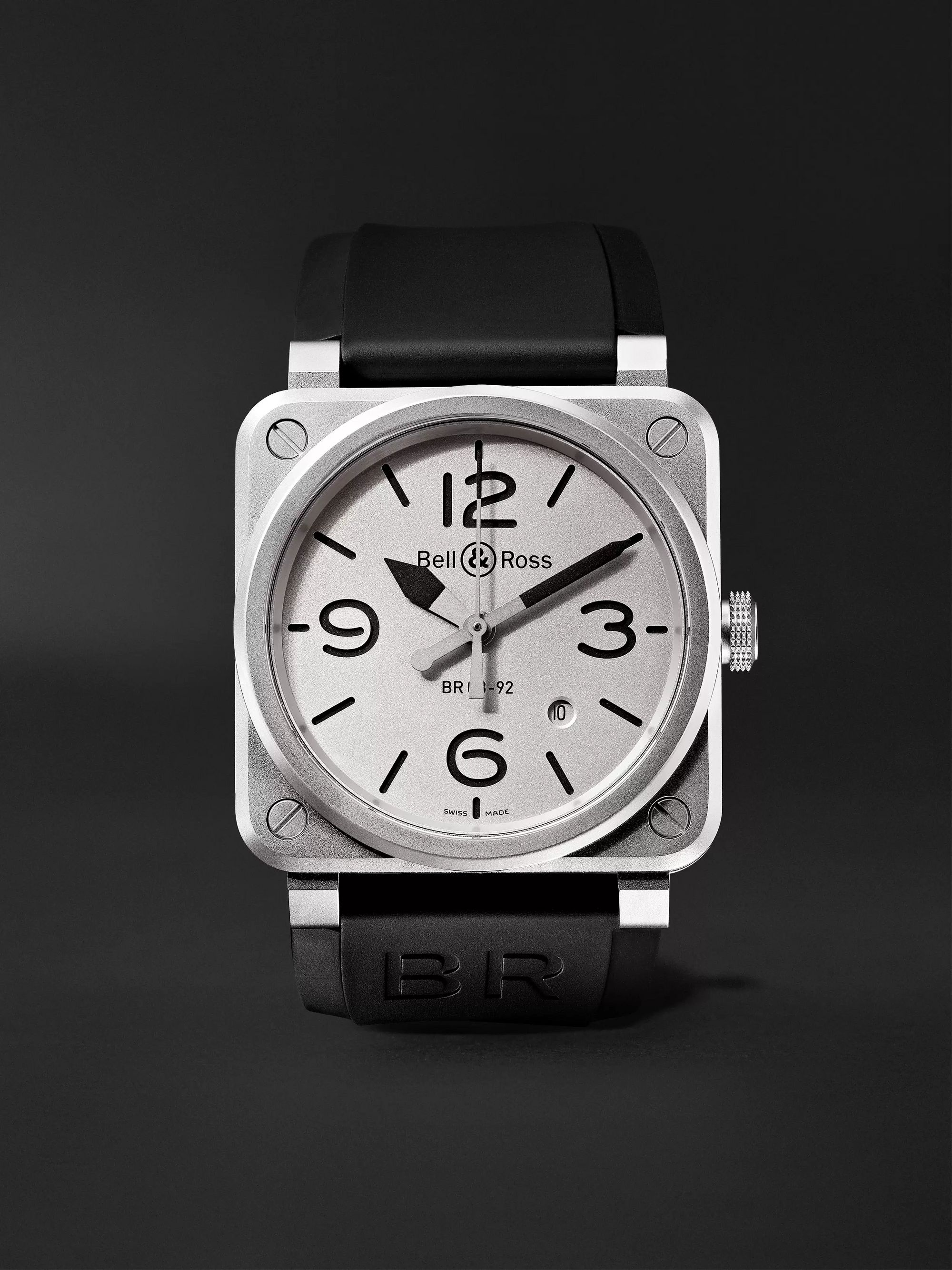 Bell & Ross BR 03-92 Horoblack Automatic 42mm Steel and Rubber Watch