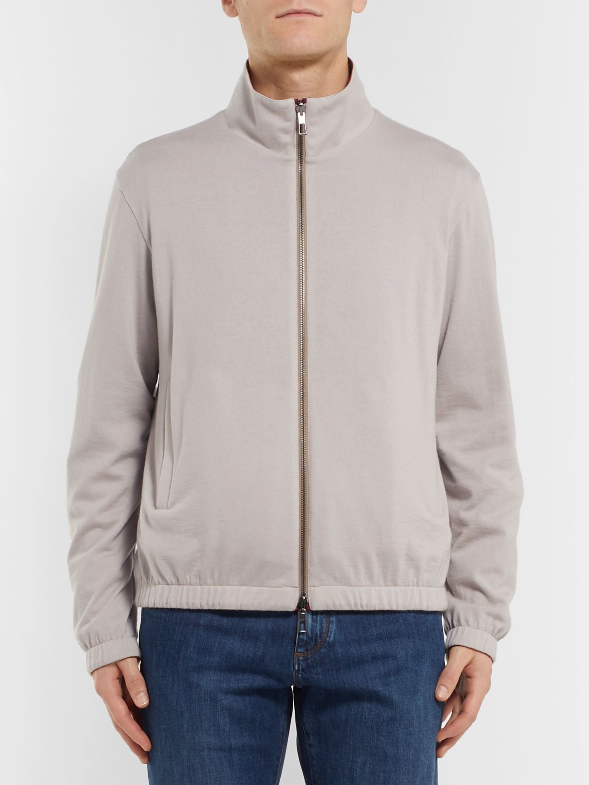 Loro Piana Windmate Reversible Storm System Shell and Cashmere Bomber Jacket