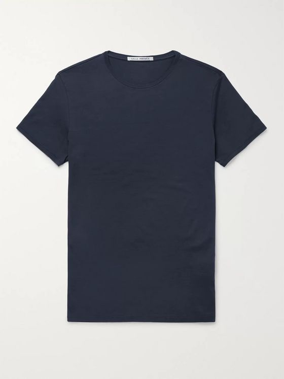 SALLE PRIVÉE Lothar Slim-Fit Silk and Cotton-Blend Jersey T-Shirt
