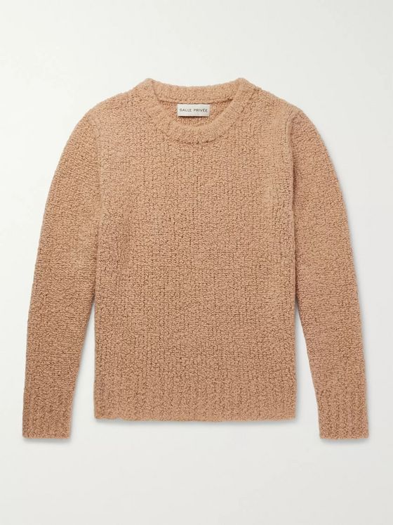 SALLE PRIVÉE Aren Cashmere and Silk-Blend Bouclé  Sweater